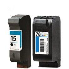 Струйный картридж для hp 15 78 15XL 78 XL HP15 HP 78 HP15XL HP 78 XL 65 78 d DeskJet 920C 930c 980c 1220cse Photosmart 1215 принтер