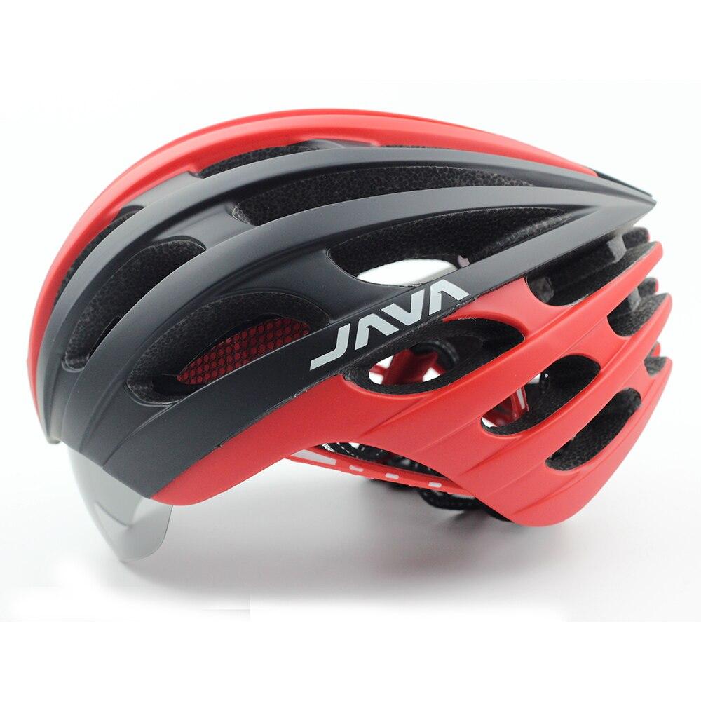 JAVA MTB Road Bike Helmet With Goggles Eyewear Integrally Molded ESP PC L 57 62cm Aero