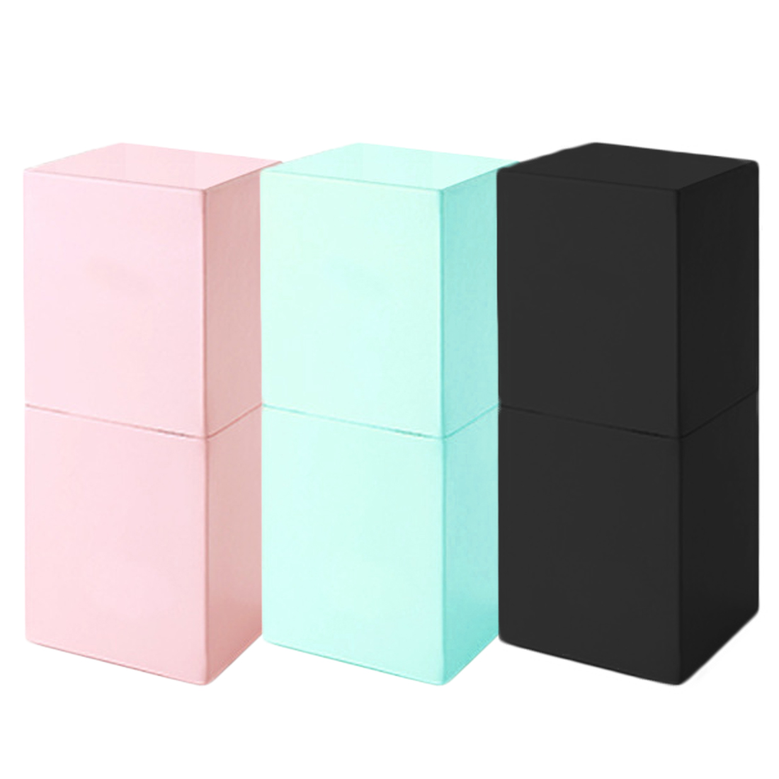 High Quality Makeup Brushes Square Magnetic Make Up Brush Pen Holder Cosmetic Tool Organizer Empty Portable PU Leather Container