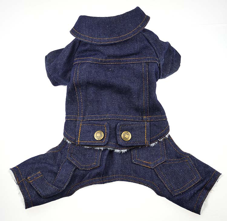 Thick Winter Pet Jeans Clothes Dog Coat Jumpsuit Overalls For Small and Large Dogs High Quality Dog Jeans Apparel Factory Outlet9