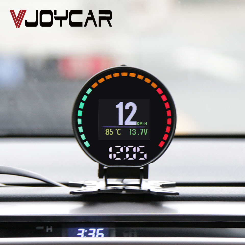 P15 HD TFT OBD Digital Speed Hud Display Car Speedometer OBD2 Turbo Boost Pressure Meter Alarm Oil Water Temp Gauge Code Reader