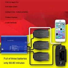 Wysokiej Jakości 5 w 1 Inteligentny Szybki Bilans Wielu Ładowarka Baterii (UE WTYCZKI) Mavic USB Dla DJI RC Pro Hurtowni Zabawek