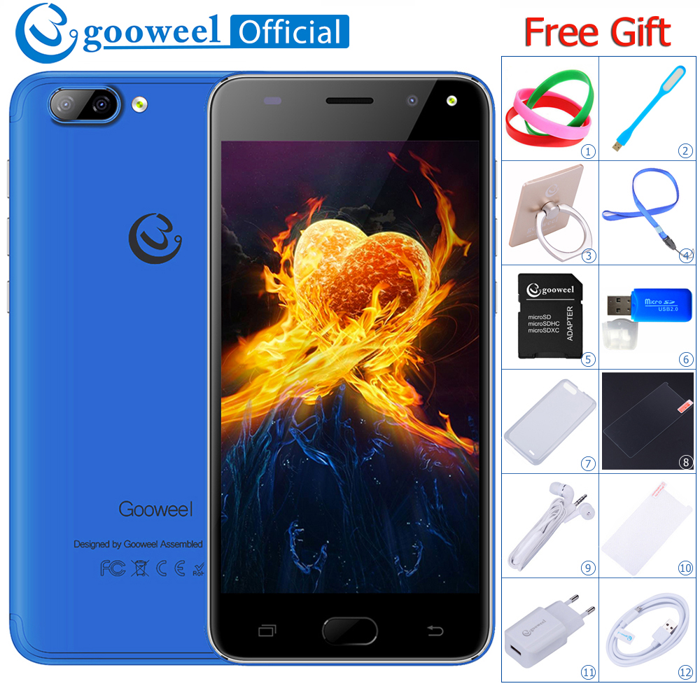 NEW Gooweel S11 Smartphone Face ID MTK6580 Quad core 5.0 inch QHD Screen 3G mobile phone 5MP+2MP Camera GPS unlocked Cell phone