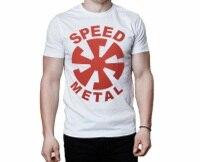 Crear una camiseta crew Masajeadores de cuello manga corta moda 2018 Speed metal Camisetas Tees para hombres