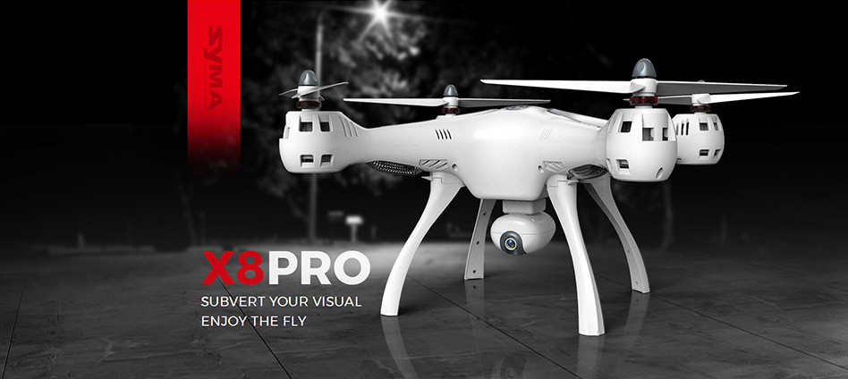 Amazing SYMA X8PRO with GPS can with HD Camera toy for children racing helicopter quad copter dron
