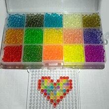 2400 шт./кристалл прозрачный Aqua бисер 15 видов цветов воды липкий хрустальные бусы из бисера Craft распыления воды Art подарок для детей