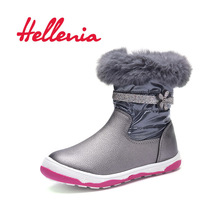 Hellenia Toddler kids ankle boots girls breathable mesh lining Spring flower buckle Children shoes Black grey size 24-29