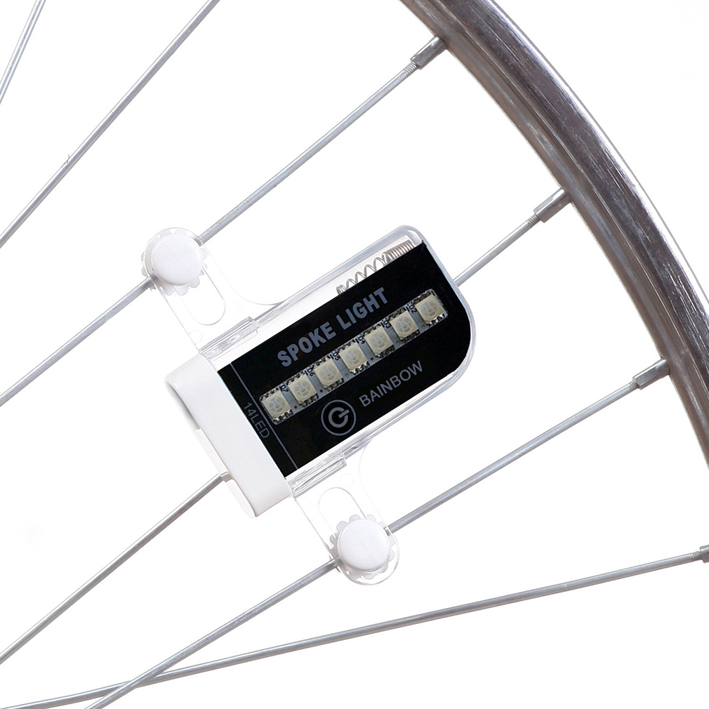 Leadbike Bicycle Accessories New 14 LED Motorcycle Cycling Bike Wheel Light Signal Tire Spoke Light 30 Changes new