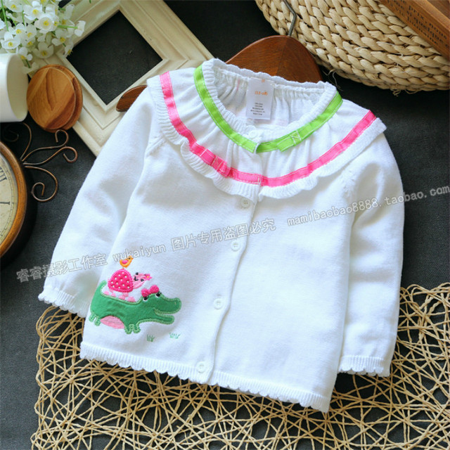 2016 spring and autumn Baby Girls Sweater Cardigan High Quality Knitted Jacket Fashion Sweater Coat Little Girls Clothing