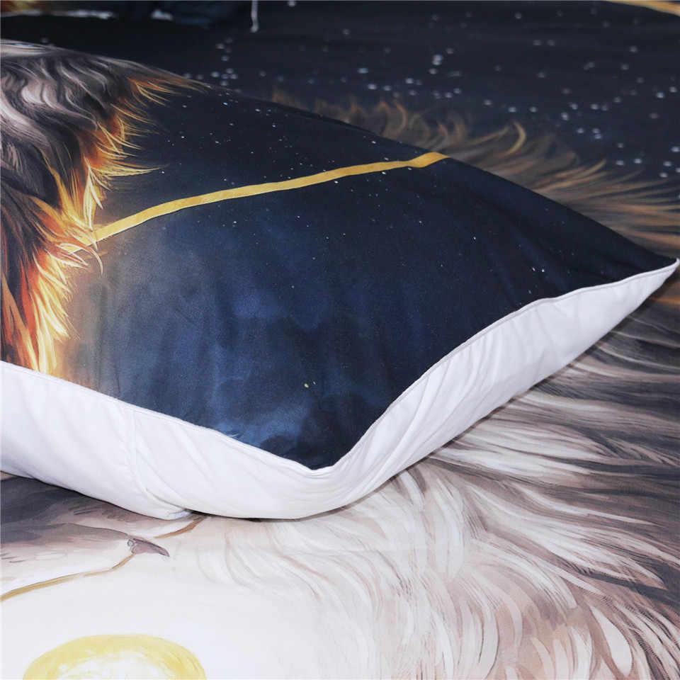 الروح حارس بواسطة JoJoesArt المخدة الأسد الله في السماء كيس وسادة الذهبي الفراش المنسوجات المنزلية نوبل و الحول وسادة غطاء 2 قطعة