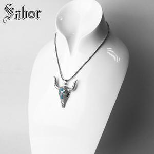 Image 4 - Pingente touro étnico crânio cor prata para as mulheres homens moda jóias presente coração rebelde pingente apto colar thomas