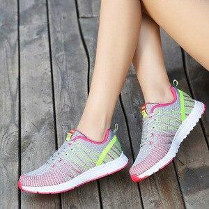 Image 4 - 2020 femmes chaussures printemps automne nouveau sport dames chaussures marche respirant Sapatilhas marche chaussures femmes baskets plate forme chaussure