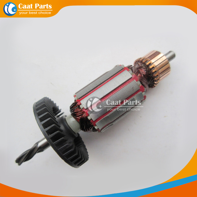 AC 220V 4-Teeth Drive Shaft Electric Hammer Armature Rotor for Bosch GBM400RE GBM500RE, High-quality! Free shipping! free shipping electric hammer accessories sds drill change chuck for bosch gbh2 24 high quality