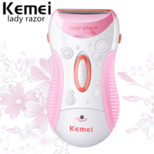 Kemei Women Lady Electric Epilator Rechargeable Hair Removal Shaver Machine Beard Shaver For Body Bikini Face Underarm KM-1187