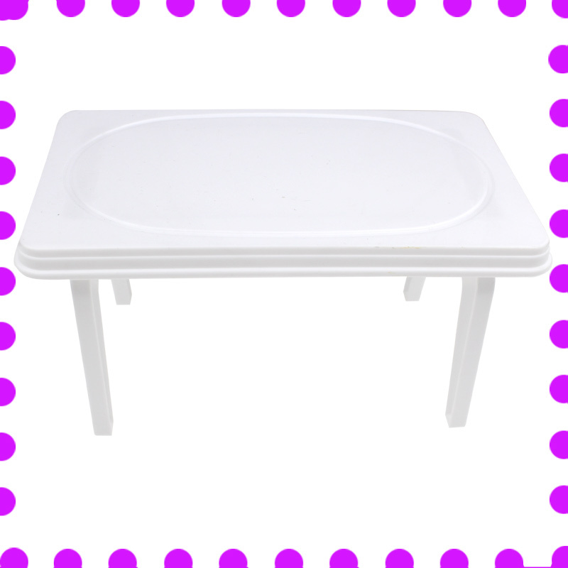 Bebek evi beyaz masa Çocuk bebek suit bebek mobilya aksesuarları masa