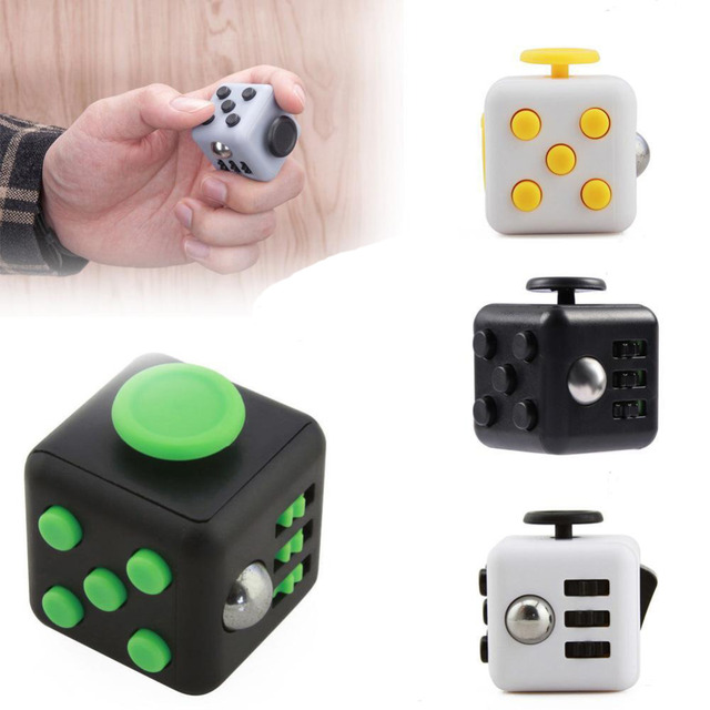 Fidget Cube Desk EDC Toys Magic Cube Puzzle Relieve Stress Toys ABS Material VS Fidget Pad Spin Gifts for Autism ADHD Kids Toys