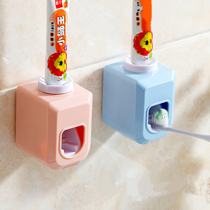 Practical Automatic Auto Toothpaste Dispenser Squeezer with stickers Bathroom Products