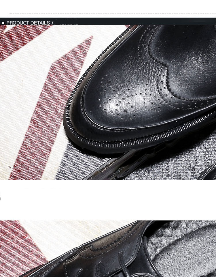 New Spring Autumn Man Genuine Leather Dress Shoes big size Breathable soft Fashion Sleeve Business Wedding Oxford Formal Shoes (1)