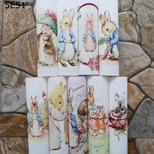 Cute cartoon rabbit Handmade cloth DIY cotton canvas fabric  / hand dyed patchwork cloth digital printing 15*15 handmade cloth diy cotton canvas fabric van gogh oil painting handmade cotton decorative painting