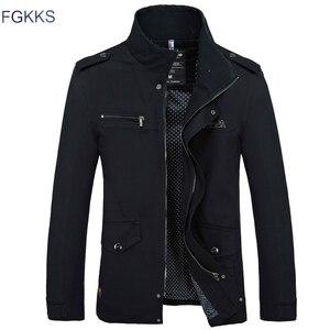 Image 2 - FGKKS marque de mode hommes vestes minces 2020 automne mâle haute qualité décontracté hommes couleur unie vestes manteaux