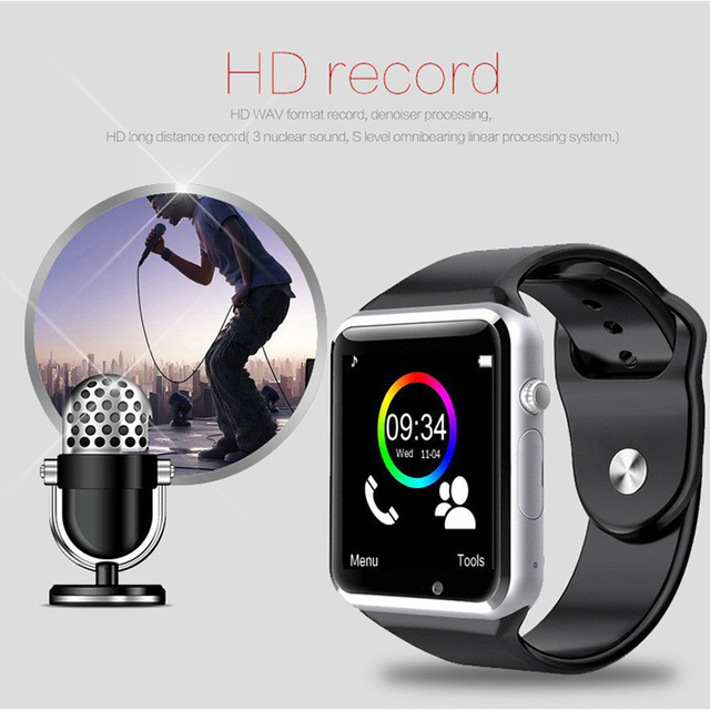 Bluetooth Wireless Speaker Sport Pedometer Smart Watch 3
