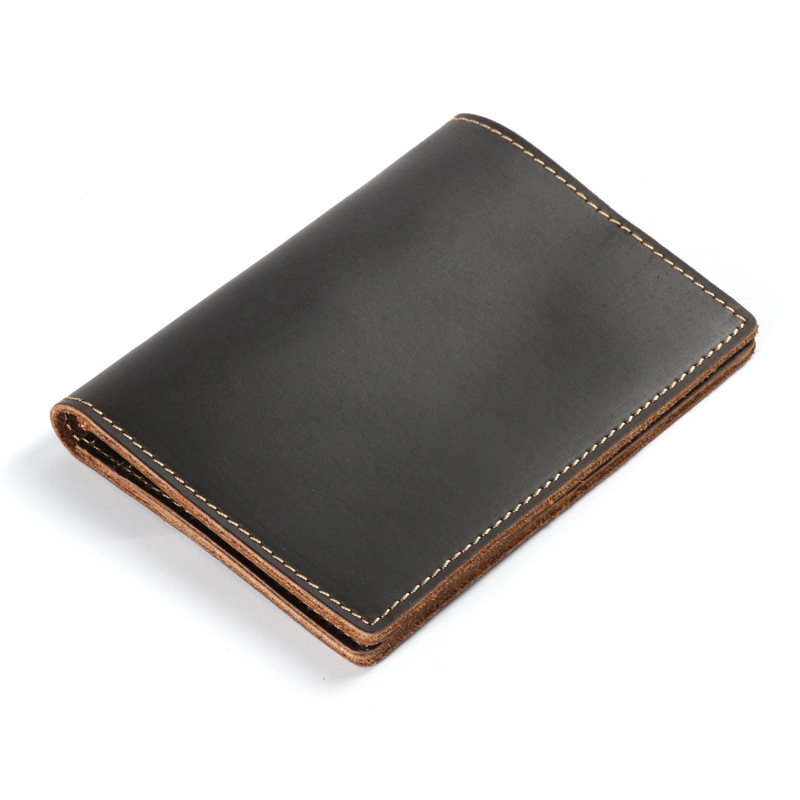 Genuine Leather Passport Cover Travel Covers For Passports Men Case for Passport Crazy Horse Leather Handmade Men Pasport Case
