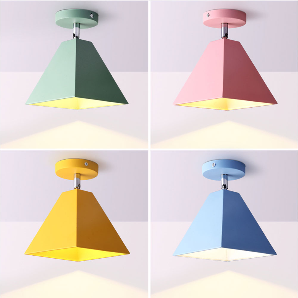 LED Ceiling Lights Corridor Ceiling Lamps Macaroon Ceiling lamps for Living room Bedroom Lights for Children room Decoration E27 chandeliers lights led lamps e27 bulbs iron ceiling fixtures glass cover american european style for living room bedroom 1031