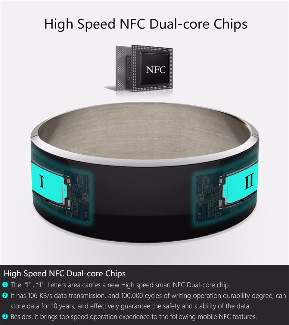 Jakcom R3F Smart Ring For High Speed NFC Electronics Phone Smart Accessories 3-proof App Enabled Wearable Technology Magic Ring 8