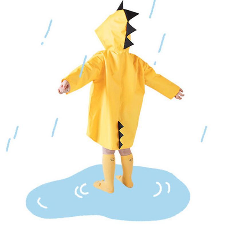 Cartoon Dinosaur Design Kids Raincoat Waterproof Kindergarten Students Rain Coat Poncho Cute Baby Boys Girls Rain-proof coat waterproof raincoat kids children boys long cute poncho lluvia mujer girls raincoat impermeable backpack rain cover ddg48y