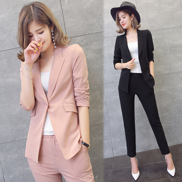 633c5195ab NEW Pant Suits Women Casual Office Business Suits Formal Work Wear Sets  Uniform Styles Elegant Pant Suits Costumes for women