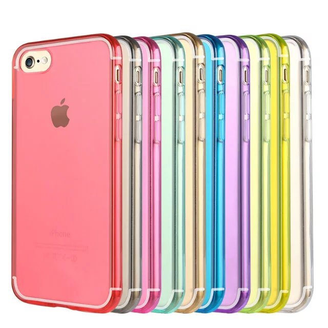 brand new 5fd68 5598c US $16.13 5% OFF|For iPhone 6 6s 7 8 Plus X Thick Transparent Clear Soft  TPU Gel Case Thickness Crystal Back Phone Case Cover 10pcs/Lot-in Fitted ...
