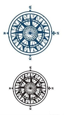 Waterproof Temporary Tattoo Sticker compass tatto on ankle foot stickers flash tatoo fake tattoos for girl women men