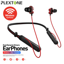 PLEXTONE Wireless Bluetooth In Ear Earphone BX345 Handsfree Sport Headset with Microphone Volume Control for Xiaomi Iphone IOS 1more dynamic driver in ear earphone with microphone control of volume 80% metal diaphragm 1m301 for ios