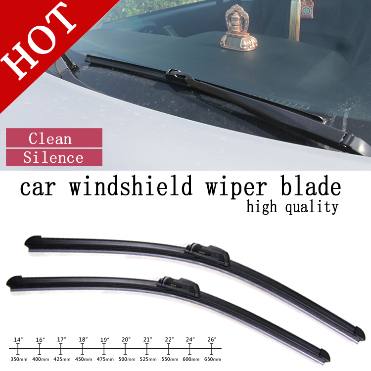 high quality Natural Rubber Car Wiper Blade auto soft windshield wiper any 1 pcs size choice 14-26in Wholesale price image