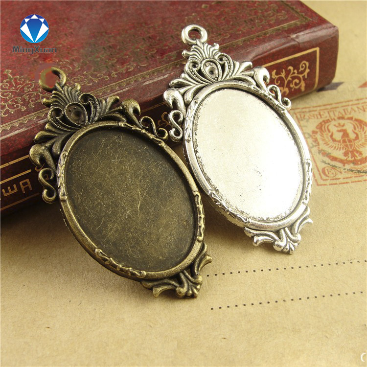 10pcs filigree cameo cabochon 18x25mm base pendant tray Glass Cabochon Base Setting camafeo DIY For Jewelry Making Findings 1 pair fit 18x25mm oval shape glass cabochon zinc alloy dangle earrings hooks cabochon base setting diy jewelry findings making