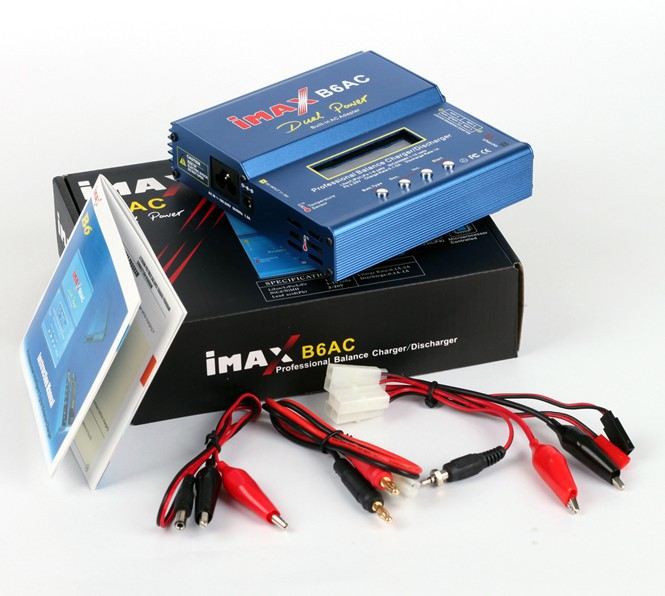 New iMAX B6 AC B6AC Lipo NiMH 3S/4S/5S RC Battery Balance Charger + EU/US/UK/AU plug power supply wire+free shipping hot sale imax b6 ac b6ac lipo 1s 6s nimh 3s rc battery balance charger for rc toys models