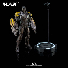 Collectible DFS033 1/9 Full Set Iron Man Mark25 Striker Diecast Pose-able Action Figure Model For Fans Birthday Gift 1 9 diecast figure series dfs023 iron man mark1 collectible dolls figures collections