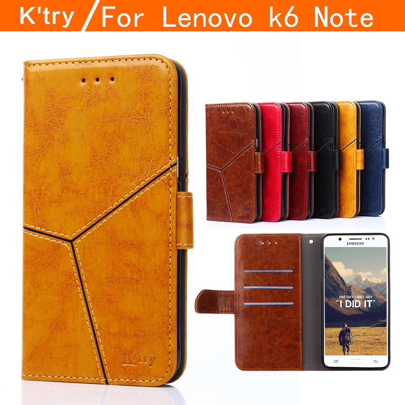 Lenovo K6 Note case K'try flip cover Lenovo vibe K6 Note case cover leather luxury silicon hard back cover k6note case 5.5 inch