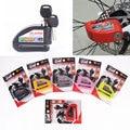 Nueva Proteger La Bicicleta Motocicleta Candado Cerradura de Seguridad Ladrón Bicicleta Eléctrica Scooter de Rueda de Freno de Disco de Aleación de Zinc de Bloqueo de Alarma de Bloqueo de Sirena