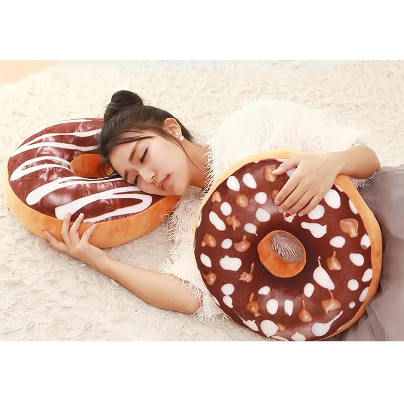 Chocolate Donuts Cushion And Soft Plush Pillow Car Seat Mats Cushion
