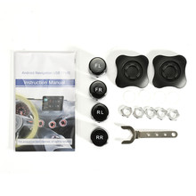 TPMS USB Tire Pressure Monitoring System For Android Car DVD Player 4 Sensors Alarm Tire Temperature Sell With Our Unit Only