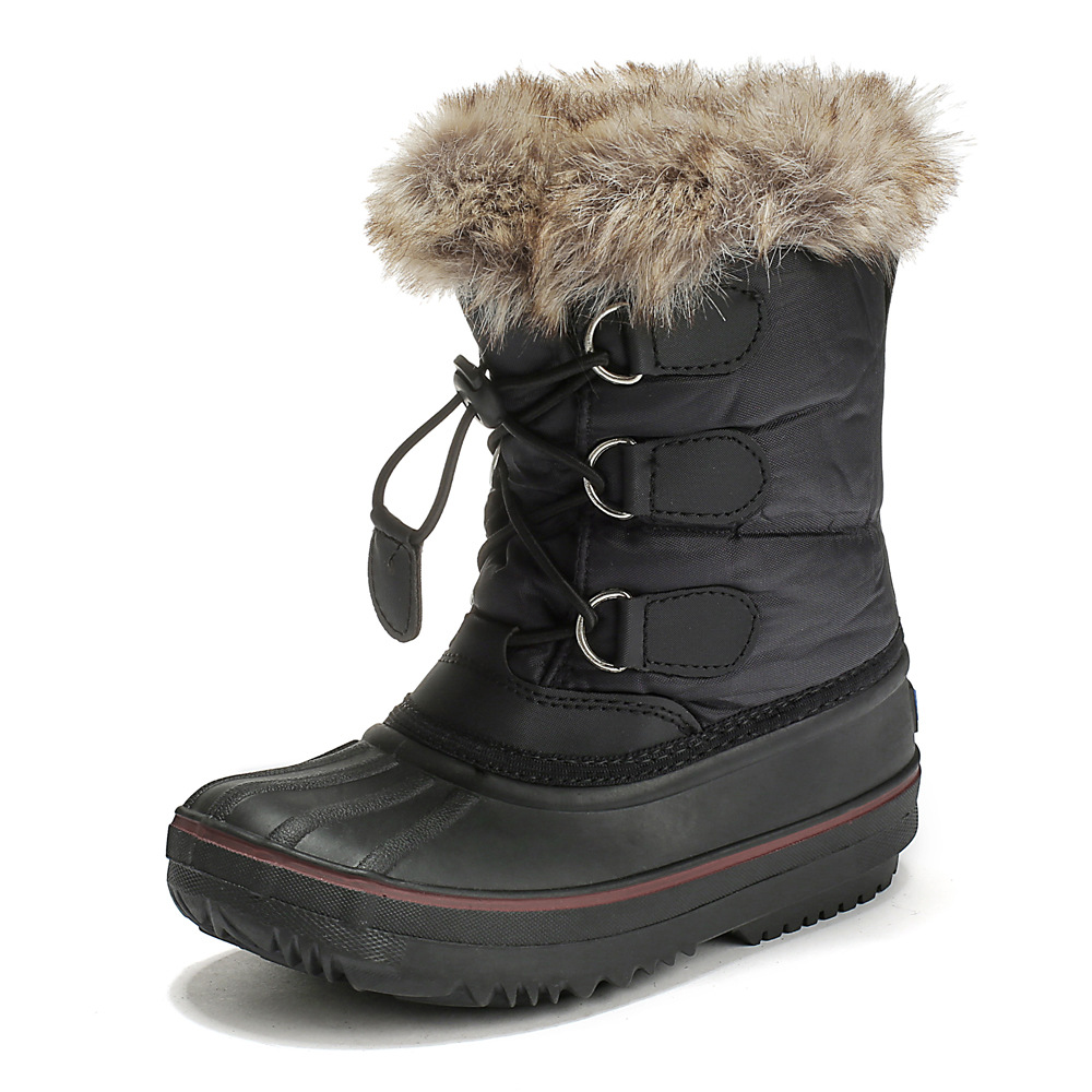 Kids Boots Winter Warm Shoes For Girls Boys Waterproof Casual Snowshoes Platform Plush Flat Patchwork Children's Snow Boots
