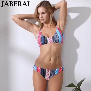 Print Bandage Bikini Set Sexy Women Swimsuit Swimwear Summer Beachwear Bathing Suit Bkinis