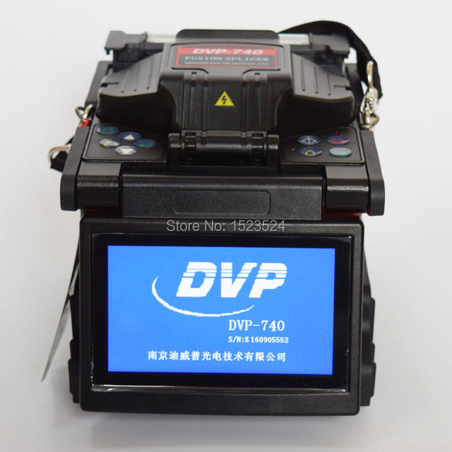 DVP-740 Multi-idioma FTTH Fibra Óptica Emenda Máquina Splicer Da Fusão