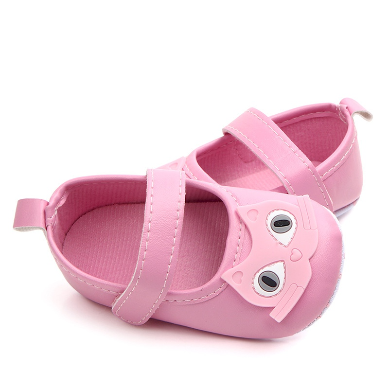 Cute Baby Girl Shoes PU Cartoon Animal Pattern Baby First Walker Fashion Baby Girl Shoes