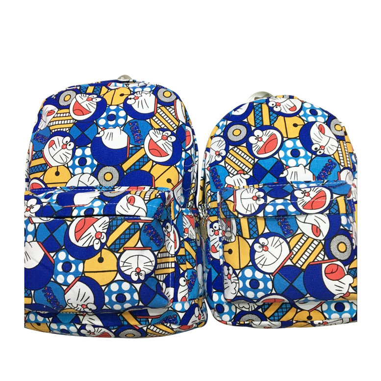 2018 Real Qiucool Cute Backpack Doraemon Prints Teenage Girl Boy Robot For Cat Shoulder Bag 12 15 Travelling Packback Canvas