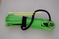 Green 10mm*30m ATV Winch Line,Synthetic Winch Rope,Winch Rope Extension,Boat Winch Rope,Plasma Rope