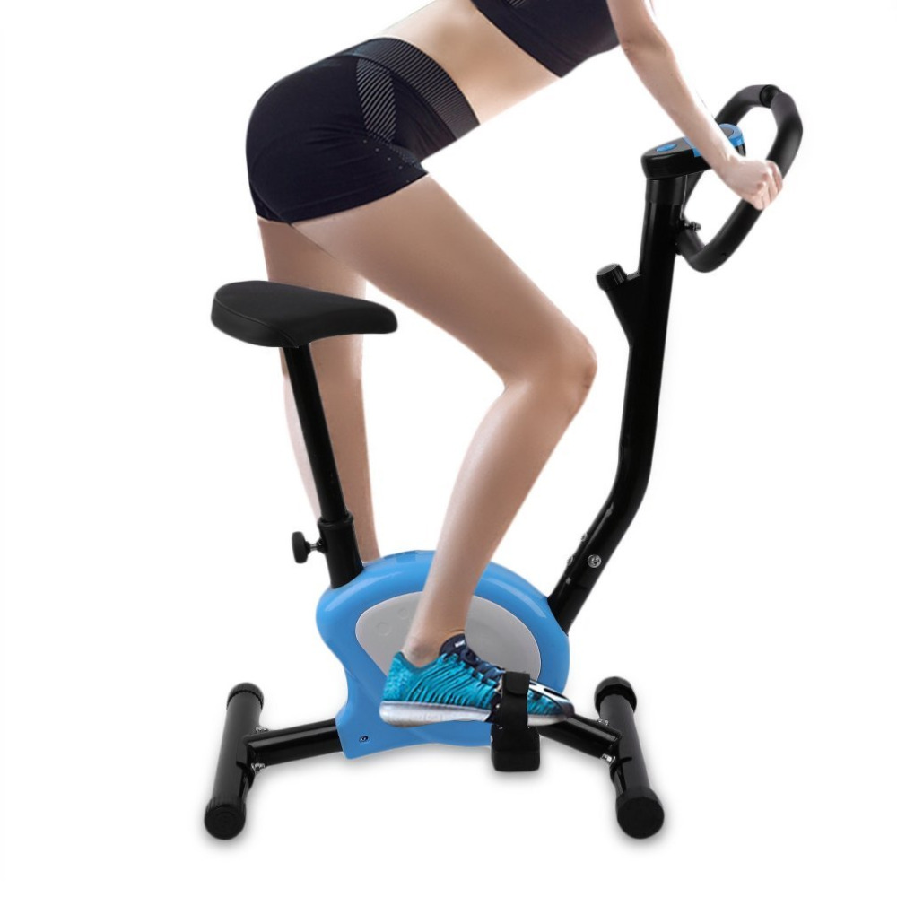 Cycling Trainer Home Training Indoor Exercise Adjustable Fitness Pedal Exercise Bike Trainer LCD Display Bike Upright Exercise proactive rehabilitation health mobility trainer training arm and leg exercise bike fitness adjust resistance display calories