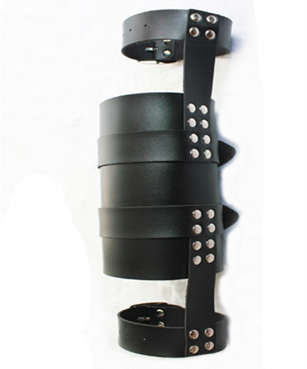 Bdsm Leather Hand Arm Cuffs Bondage Slave Restraints Belt In Adult Games , Fetish Sex Products Flirting Toys For Men And Women bdsm leather collar hand wrist cuffs bondage slave restraints belt harness in adult games fetish sex toys for women