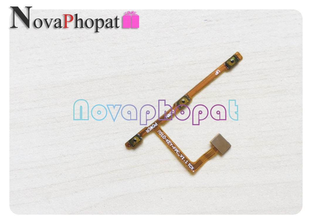 Novaphopat Tested Ok Power Switch On/off Volume Ribbon For ZTE Blade A510 Power Button Flex Cable Replacement Parts +tracking